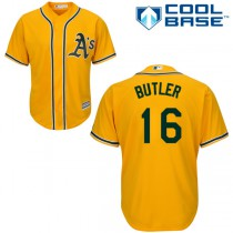Men's Majestic Oakland Athletics #16 Authentic Alternate 2 2015 Cool Base MLB Jersey - Billy Butler