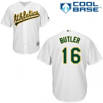 Youth Billy Butler Authentic Jersey - Majestic Oakland Athletics #16 Home 2015 Cool Base MLB