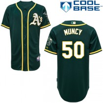 Youth Max Muncy Authentic Jersey - Majestic Oakland Athletics #50 Alternate 1 Cool Base MLB
